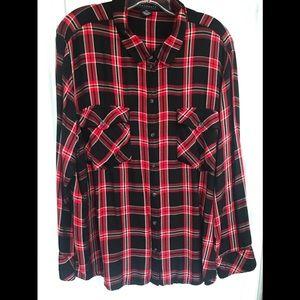 🌲 PLUS Sz Sanctuary Plaid Button Up Shirt